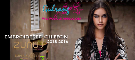 Zunuj Eid-Ul-Adha Embroidered Chiffon Collection 2015