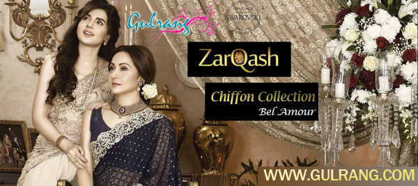 ZarQash Bel Amour Emb Chiffon Collection 2016